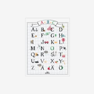 Alfabetstavla ABC, 30,5×40 cm