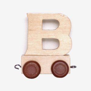 B – Bokstav till namntåg, trä