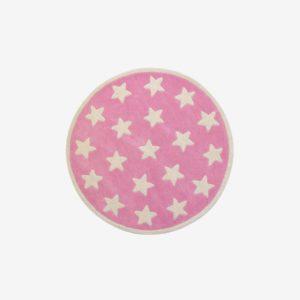 Barnmatta stjärnor, rosa/vit