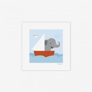 Bild elefant till havs