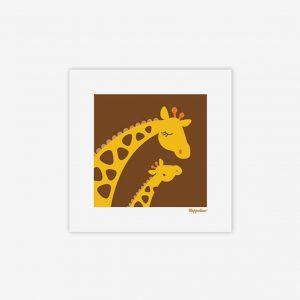 Bild giraff med baby