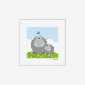 Bild hippo med baby