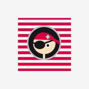 Bild pirat, liten, röd
