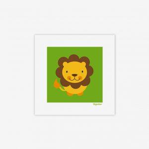 Bild snällt lejon, grön