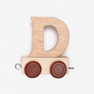 D – Bokstav till namntåg, trä