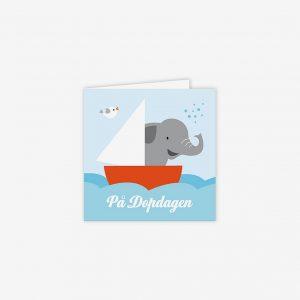 Dopkort elefant till havs
