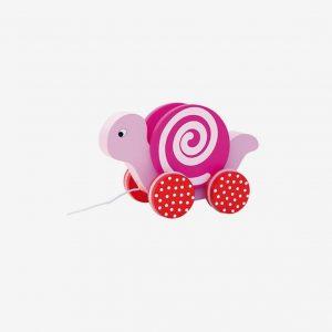 Dragsnigel i trä, rosa