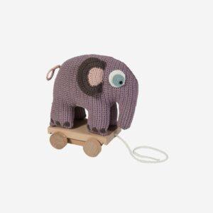 Elefant på hjul, pastellila