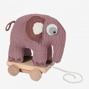 Elefant på hjul, vintage rose