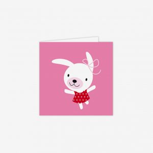 Födelsedagskort Hoppelina, rosa