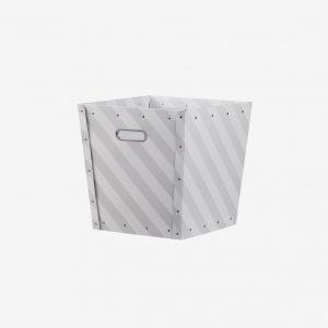 Förvaringsbox randig, grå