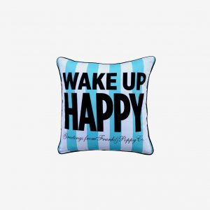 Kudde wake up happy, turkos/vit