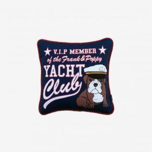 Kudde yacht club, marinblå