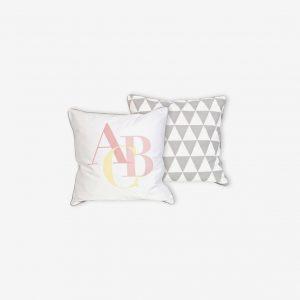 Kuddfodral ABC, rosa