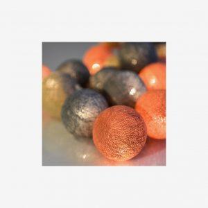 Ljusslinga Peach Marble, 20 bollar