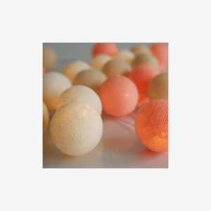 Ljusslinga Sheer Pink, 20 bollar