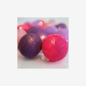 Ljusslinga Vivid Violet, 35 bollar