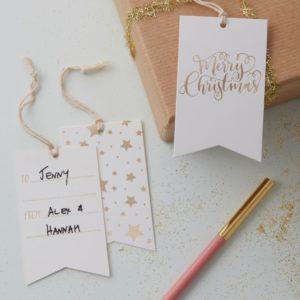 Merry Christmas etiketter