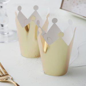 Mini partykrona, guld