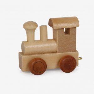 Namntåg lokomotiv, trä