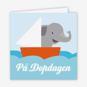 Paketkort dop, elefant