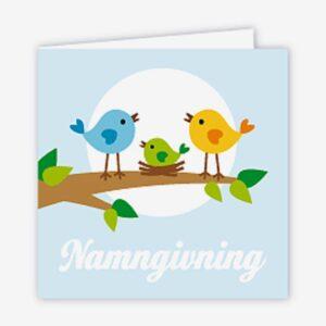 Paketkort namngivning, Fågelfamilj