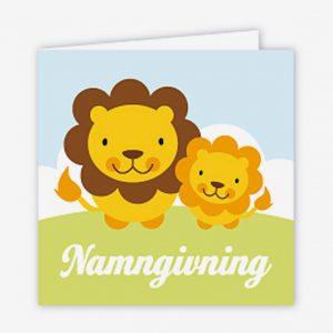 Paketkort namngivning, lejon