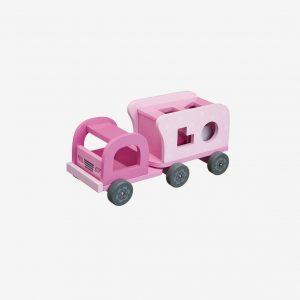 Plocklåda lastbil, rosa
