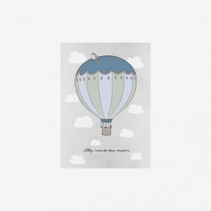 Poster Fly me to the moon 50×70, blue