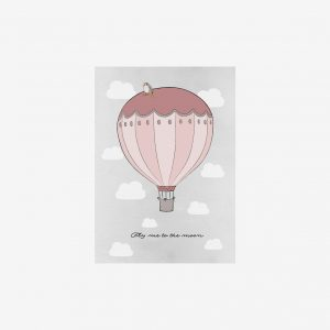 Poster Fly me to the moon 50×70, pink