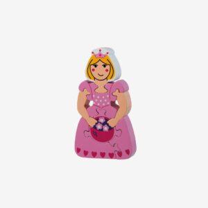 Pussel gummiträ, prinsessa