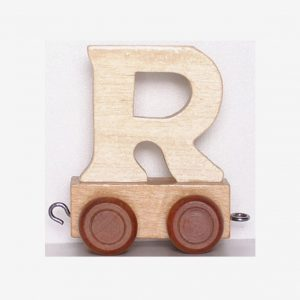 R – Bokstav till namntåg, trä