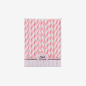 Retro pappsugrör rosa, 30 st