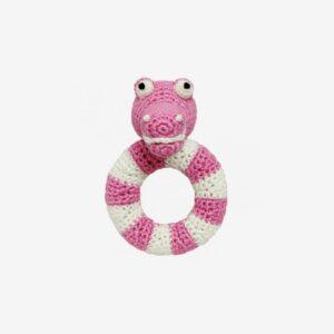 Ringskallra krokodil, rosa