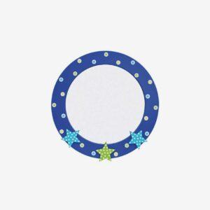 Spegel stjärna, blå