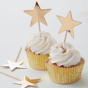 Tårtflagga stjärna, guld
