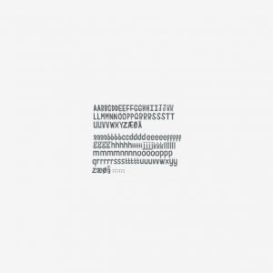 Väggdekor bokstäver, 158 st