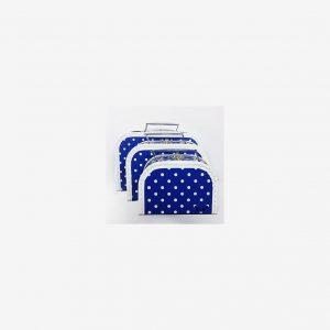 Väskor prickiga, blå
