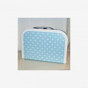 Väskor prickiga, ljusblå