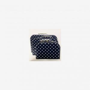 Väskor prickiga, marinblå