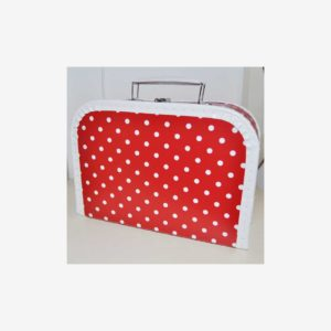 Väskor prickiga, röd