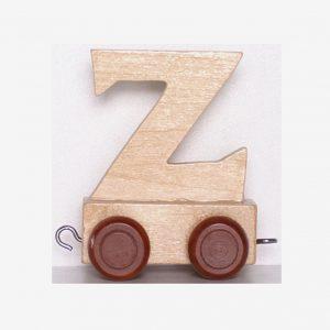 Z – Bokstav till namntåg, trä