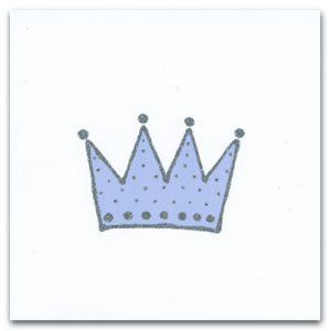 Kort krona blå