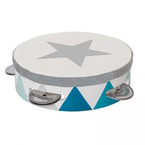Tamburin trumma blå