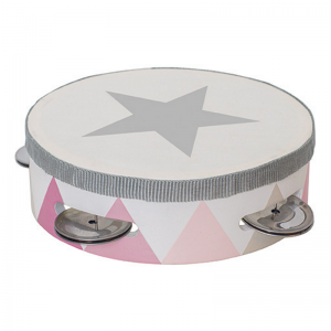Tamburin trumma rosa
