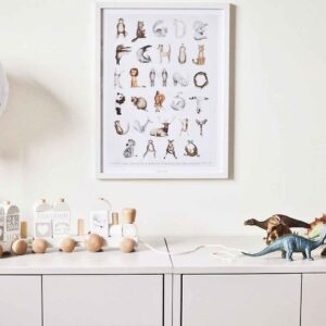 Poster djurens ABC