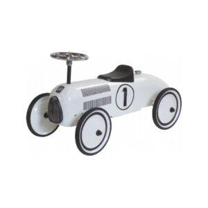 Sparkbil vit racerbil
