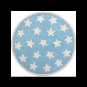 Barnmatta stjärnor, blå/vit
