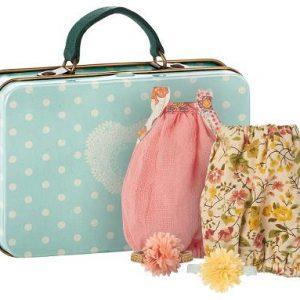 Resväska med klänningar