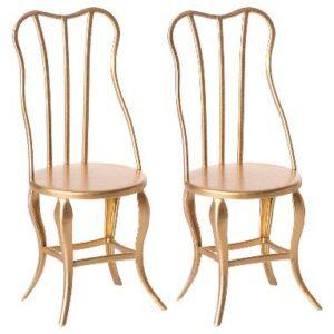 Vintage stol guld 2-pack Maileg